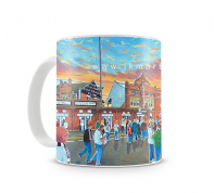craven cottage going to the match  mug